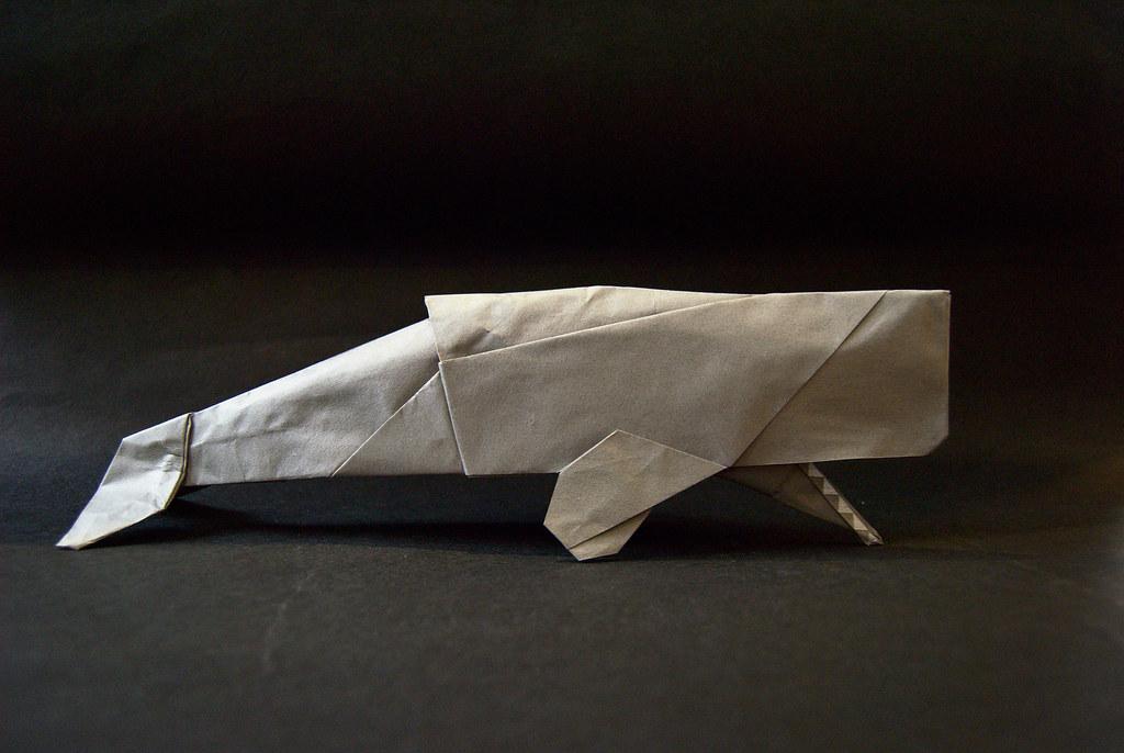 Origami Sperm Whale Video - Sea Life / 종이접기 향유 고래 접는 ... | 686x1024