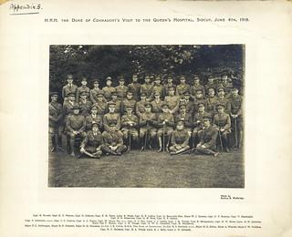 Staff, Queen's Hospital, Sidcup 4 June 1918