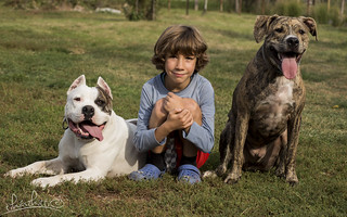 My brother and our dogs | by kitti_tikasz