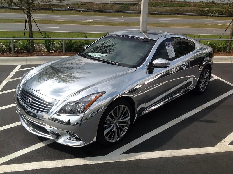 Chrome car wrap by TechnoSigns in Orlando