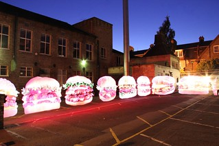 Light Painted Burgers at Makespace Cambridge