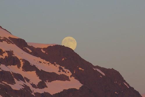 longexposure moon snow outdoors washington bestof view july glacier fullmoon wa washingtonstate alpenglow mtshuksan 2014 sooc dexhorton