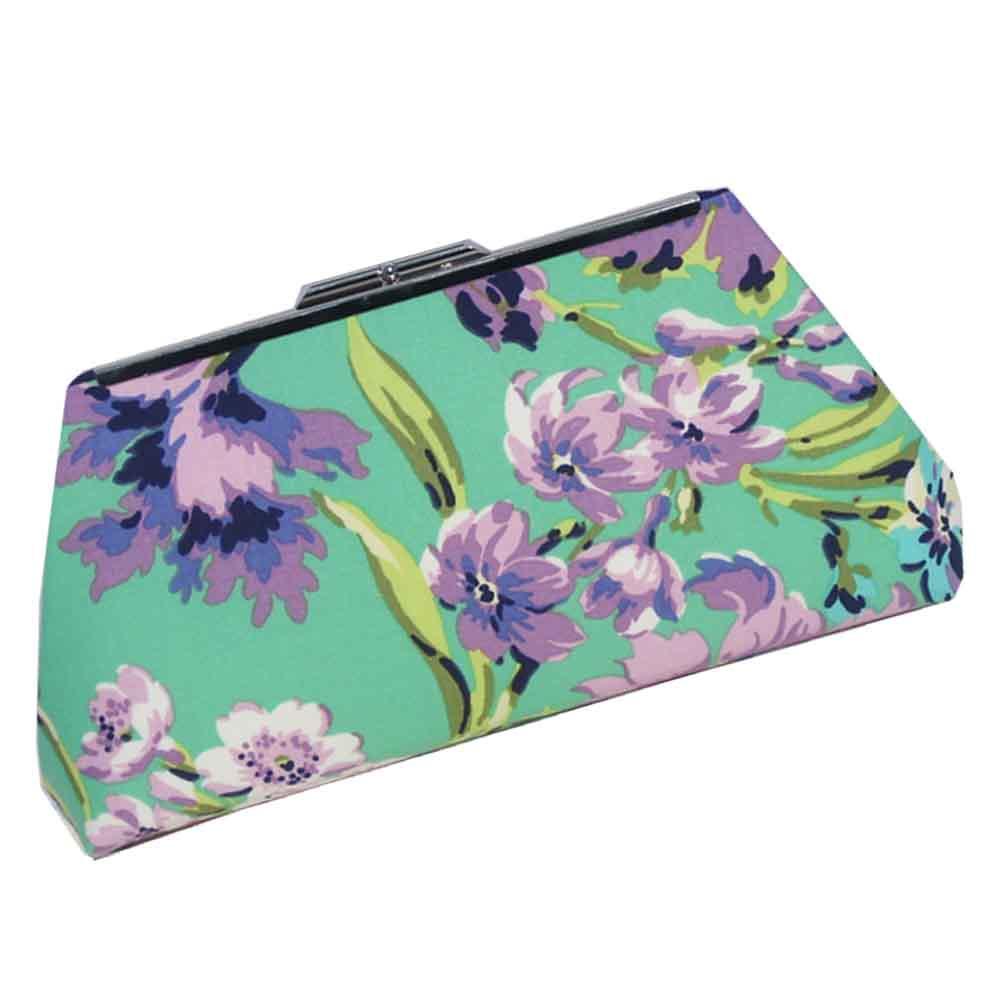 Purple Floral Clutch