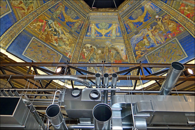 Faux plafond sous le dôme de Galileo Cini (Biennale d'architecture 2014, Venise)