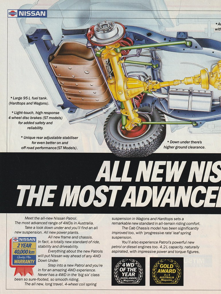1988 Nissan Patrol 4WD Ad - Australia | Covers the 1988 Niss… | Flickr