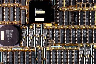 Gorgeous computer fixings: the Sun Sparcstation 330 motherboard smart fix (1989) | by J.L. Briz