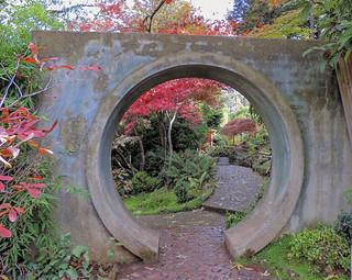Forest Glade Garden - AUTUMN COLOUR . Moon Gate2   (#64 in series) - Mt Macedon Victoria AU 03May2014 - r.e Dec2017 sRGB web.jpg