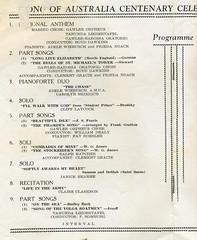 Song of Australia Centenary Celebrations 1959  in Gawler Institute.