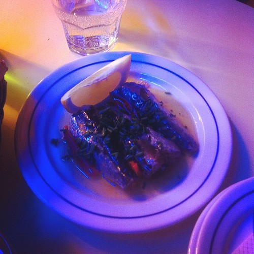 Fat sardines in spicy olive oil w pickles; Sol E Pesca, Lisbon, #portugal | by RealThai