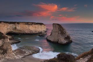 Shark Fin Cove Sunset   by gr7361