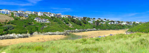 River Gannel and Crantock beach, Newquay, Cornwall panorama 2 by Thomas Tolkien | by Thomas Tolkien