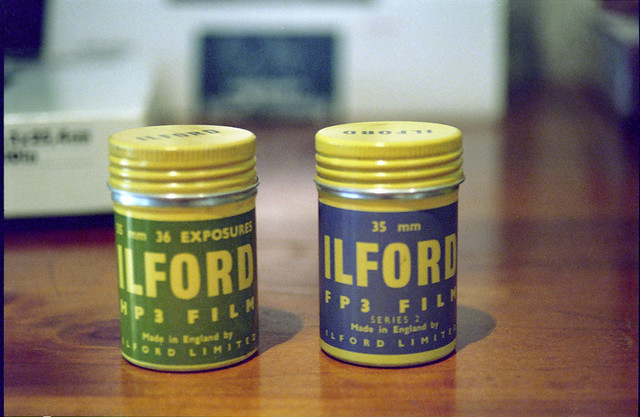Ilford film cannisters