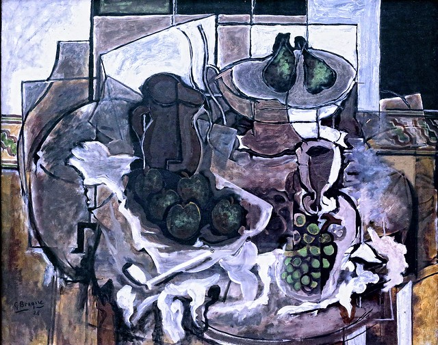 IMG_0460  Georges Braque. 1882-1963. Paris. Stillleben in Braun.  Nature morte brune. Still life brown. 1926. Munich. Pinakothek der Modern.
