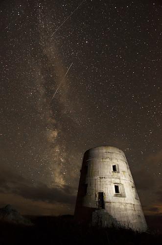 longexposure sea sky cliff building slr tower night stars star nikon flash wwii worldwarii galaxy german ww2 astronomy dslr guernsey meteor shootingstars milkyway occupation shootingstar sb800 d7000 nikond7000