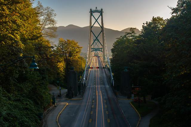 Lions Gate Bridge Morning Commute