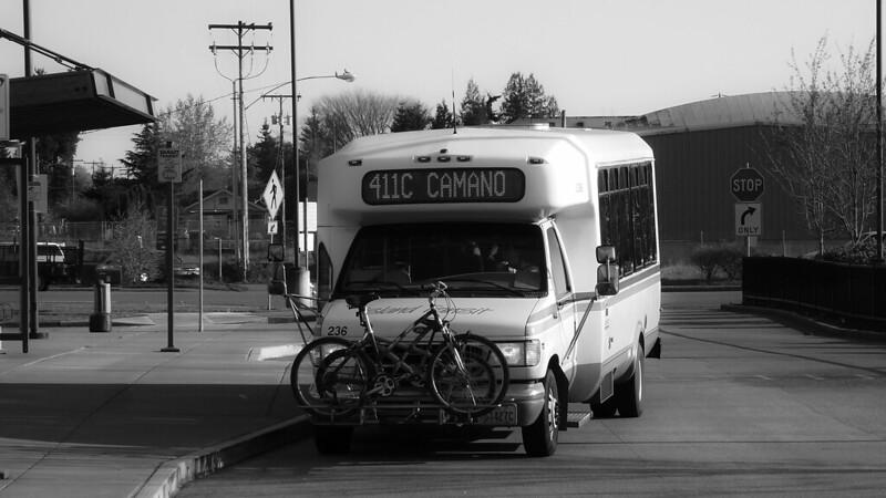 Black & White of an Island Transit 411C