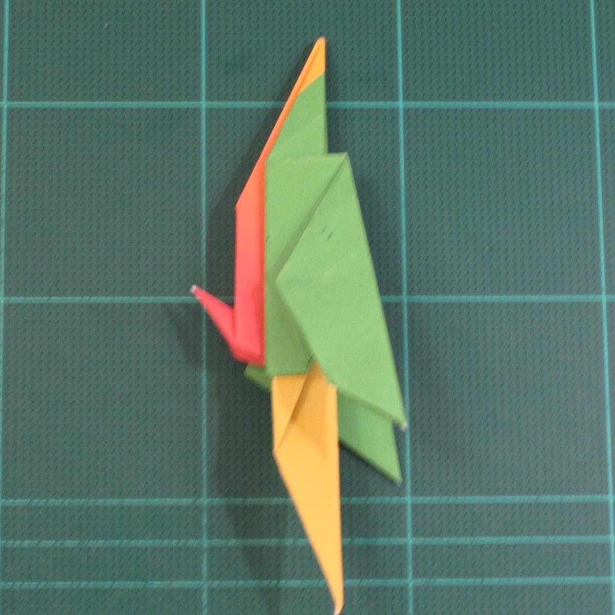 วิธีพับกระดาษเป็นรูปนกแก้ว (Origami Parrot) 032