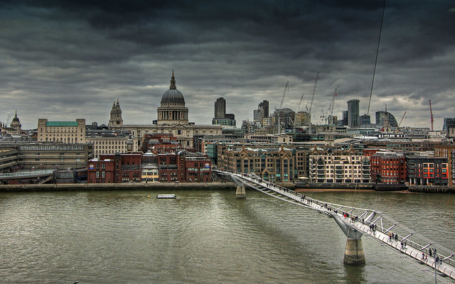 London from Tate Modern Cafe