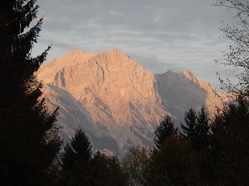 Avondzon vanaf de camping in Maishofen