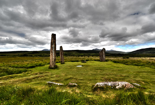 uk greatbritain wallpaper history scotland standingstones day cloudy unitedkingdom background prehistoric isleofarran bronzeage neolithic stonecircle moorland prehistory machriemoor eileanarainn
