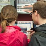 Bookshop browsing at the Edinburgh International Book Festival |
