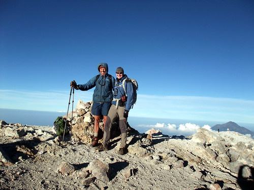 Doug Mantle and me on the summit of Tajumulco (4220m), the highest point in Central America | by markhorrell