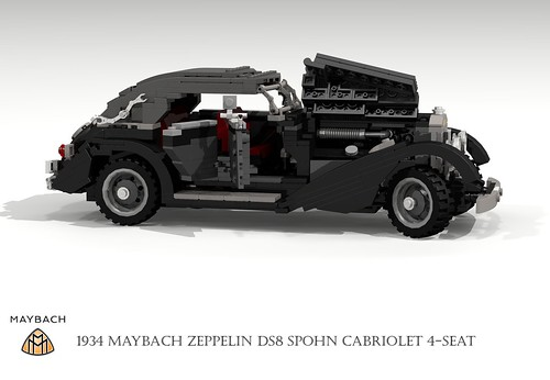 Maybach DS8 Zeppelin Cabriolet Spohn Streamliner (1934) | by lego911