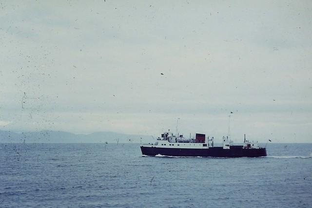 MV Arran leaves for Oban 1972