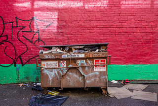 Colourful laneway off Hastings Street in Vancouver's Downtown Eastside   by Phil Marion