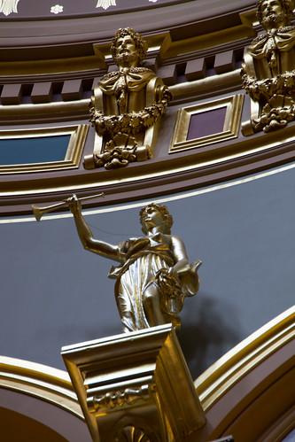 Statues in the rotunda