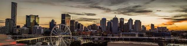 Dawn Panoramic over Brisbane
