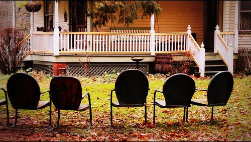 vintage chair steel porch
