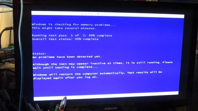 MVI_3457 Windows 7 memory test screen