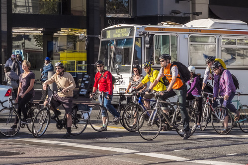 Market Street Bicyclists | by sirgious