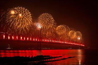 Forth Road Bridge 50th Fireworks   by csakkarin