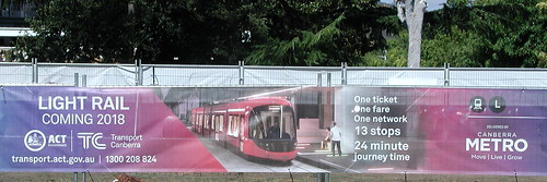 Light rail coming 2018 poster | by spelio