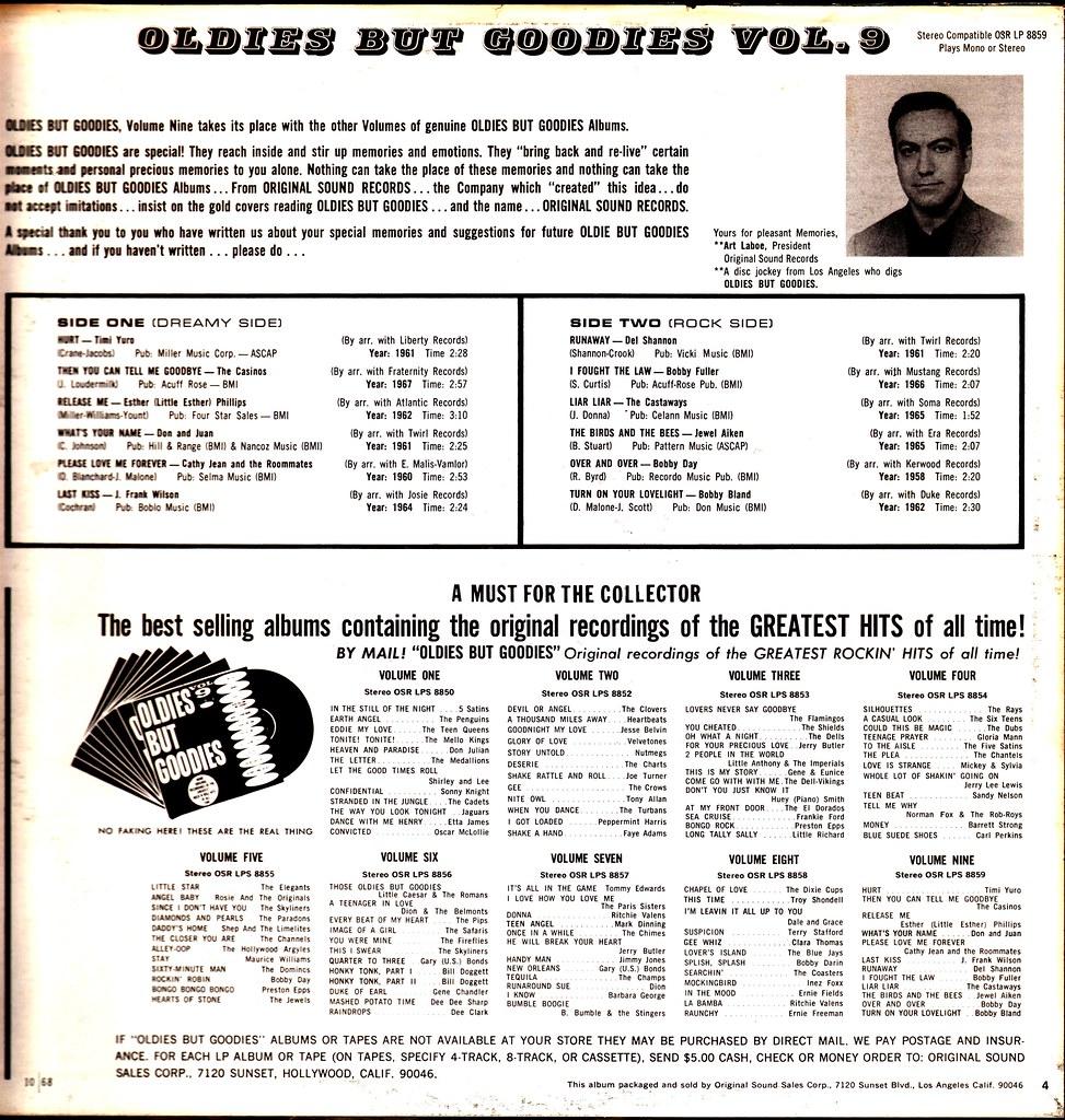 Various - Oldies But Goodies - Vol 9 - US - 1968- | Klaus