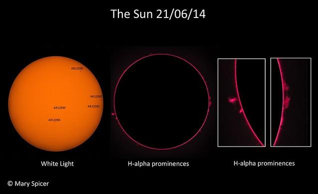 The Sun in white light & H-alpha 21/06/14