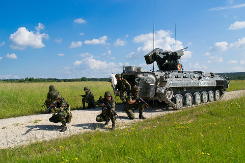 Romanian soldiers practice gunnery at Grafenwoehr during Combined Resolve II | by 7th Army Training Command