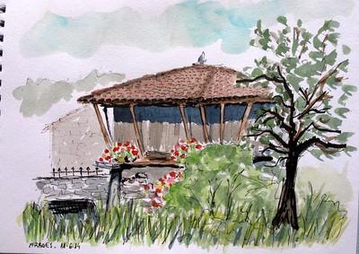 Hórreo florido. Asturias (Spain)