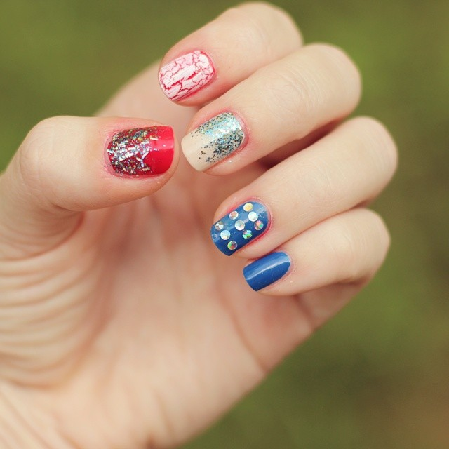 4th of july nails | Patriotic Nail Designs For All Occasions [With Pics & Tutorial Videos]