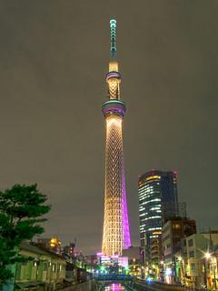 Night view, Tokyo Skytree. 東京スカイツリー,夜景 | by T.Kiya