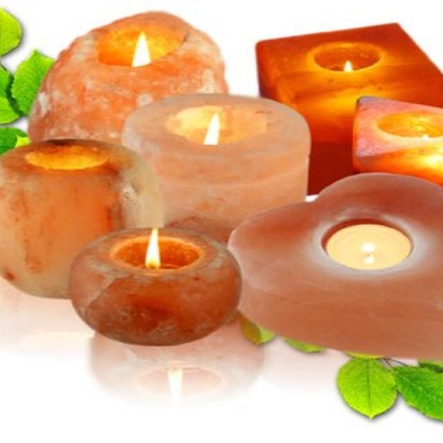 Natural / Shaped Himalayan Salt Rock Candle Holders Wholes