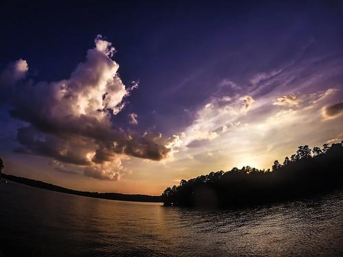 sunset lake day cloudy dusk lakenorman mostlycloudy gopro hero3
