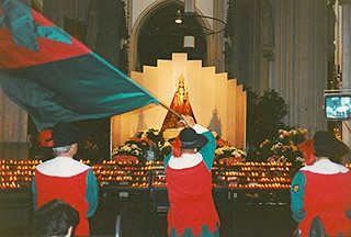 Flag greeting for Our Lady of Den Bosch