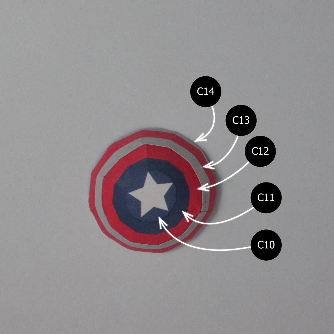 วิธีทำของเล่นโมเดลกระดาษกับตันอเมริกา (Chibi Captain America Papercraft Model) 029