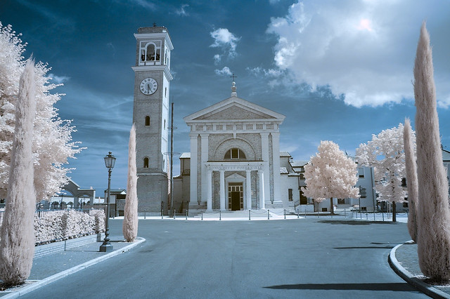 Church of Sant'Angelo Gatteo near Cesenatico Italy