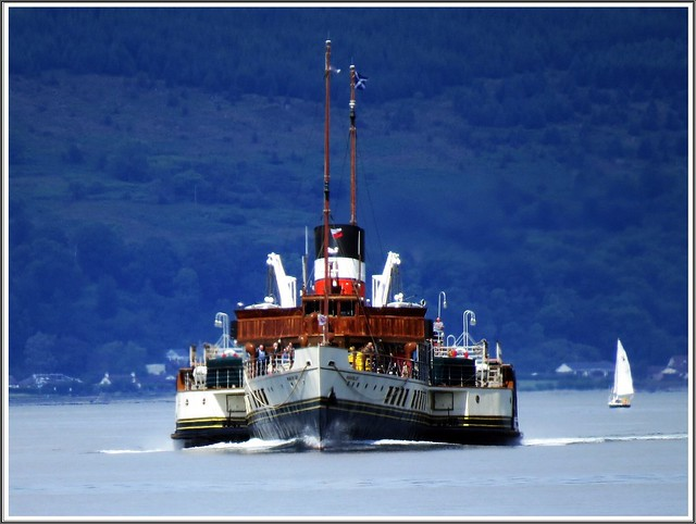 The Waverley coming into Largs pier