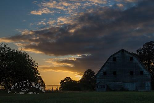 light sky storm tree silhouette clouds barn sunrise glow 2014