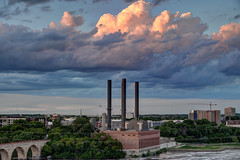 Clouds over the Southeast Steam Plant